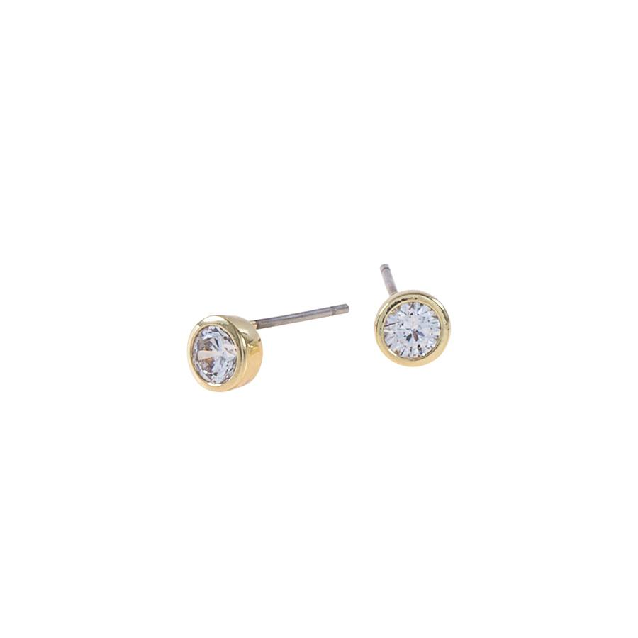 Snö of Sweden Noice Small Earring, Gold/Clear