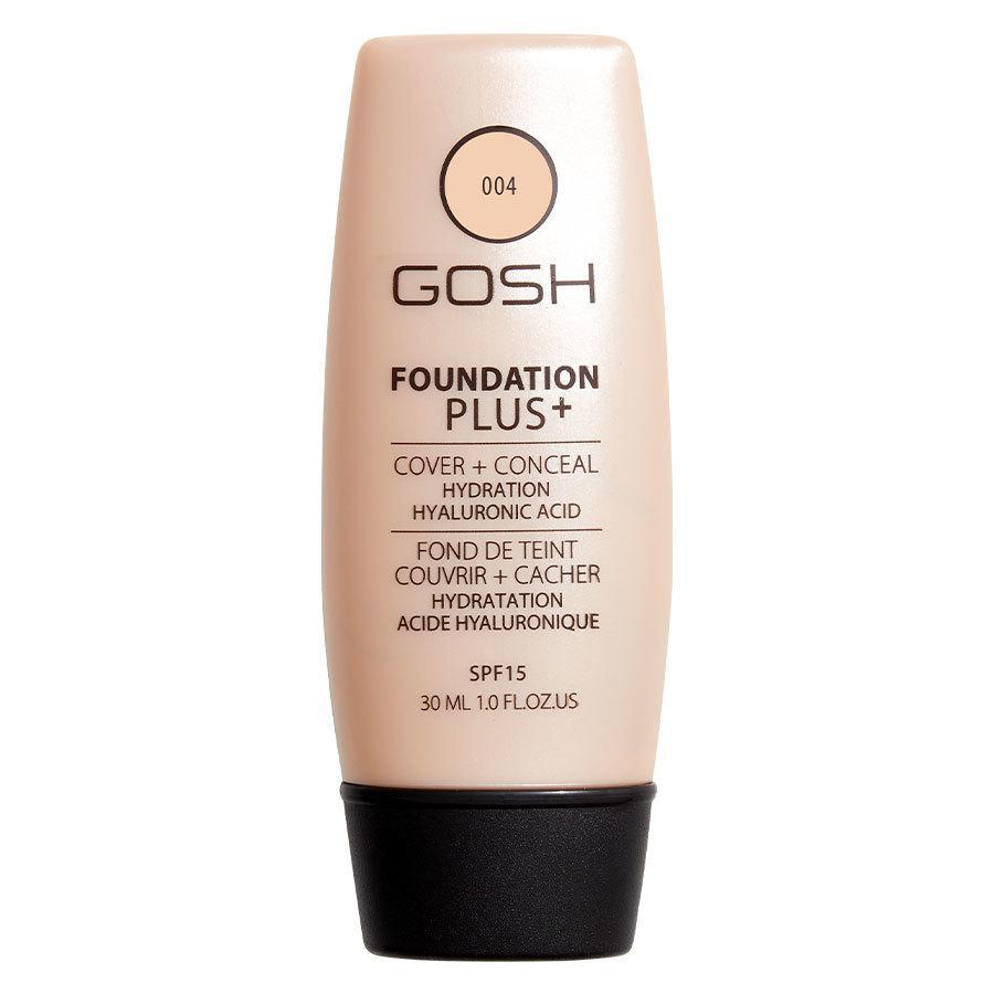 GOSH Foundation Plus+ (30ml), #004 Natural