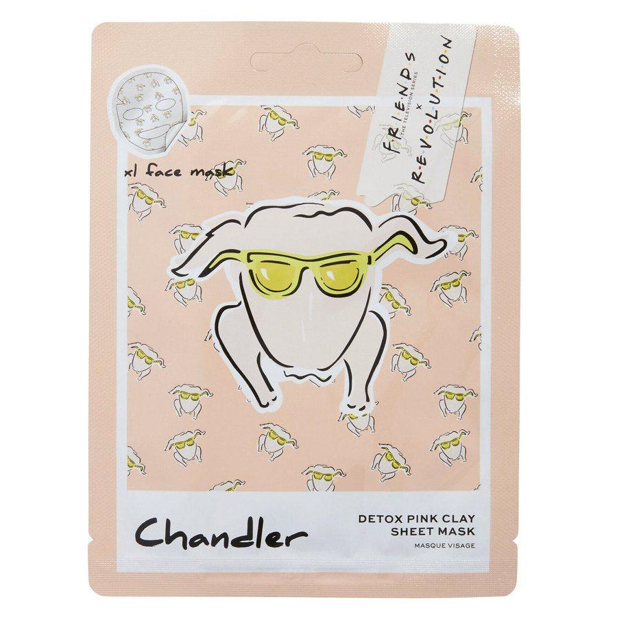 Makeup Revolution X Friends Chandler Pink Clay Sheet Mask 1 szt.