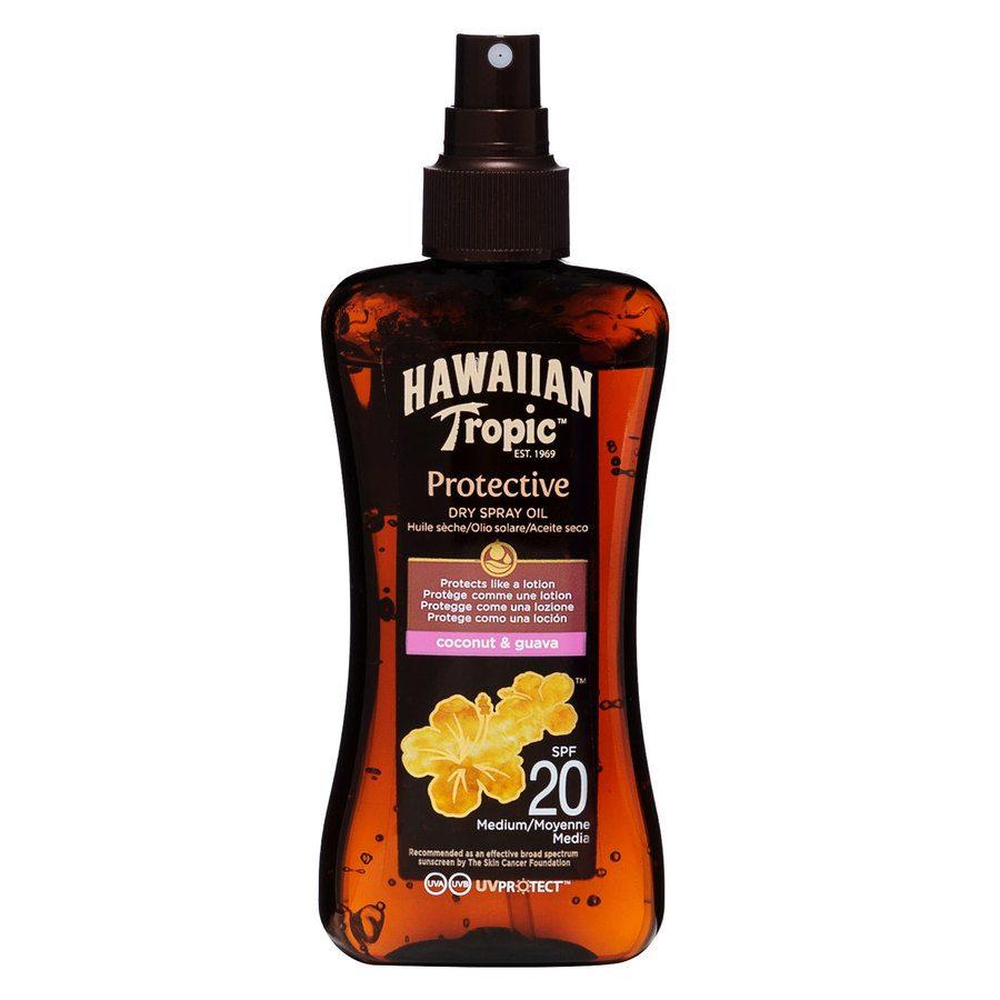 Hawaiian Tropic Protective Dry Oil Spray SPF20 (200ml)