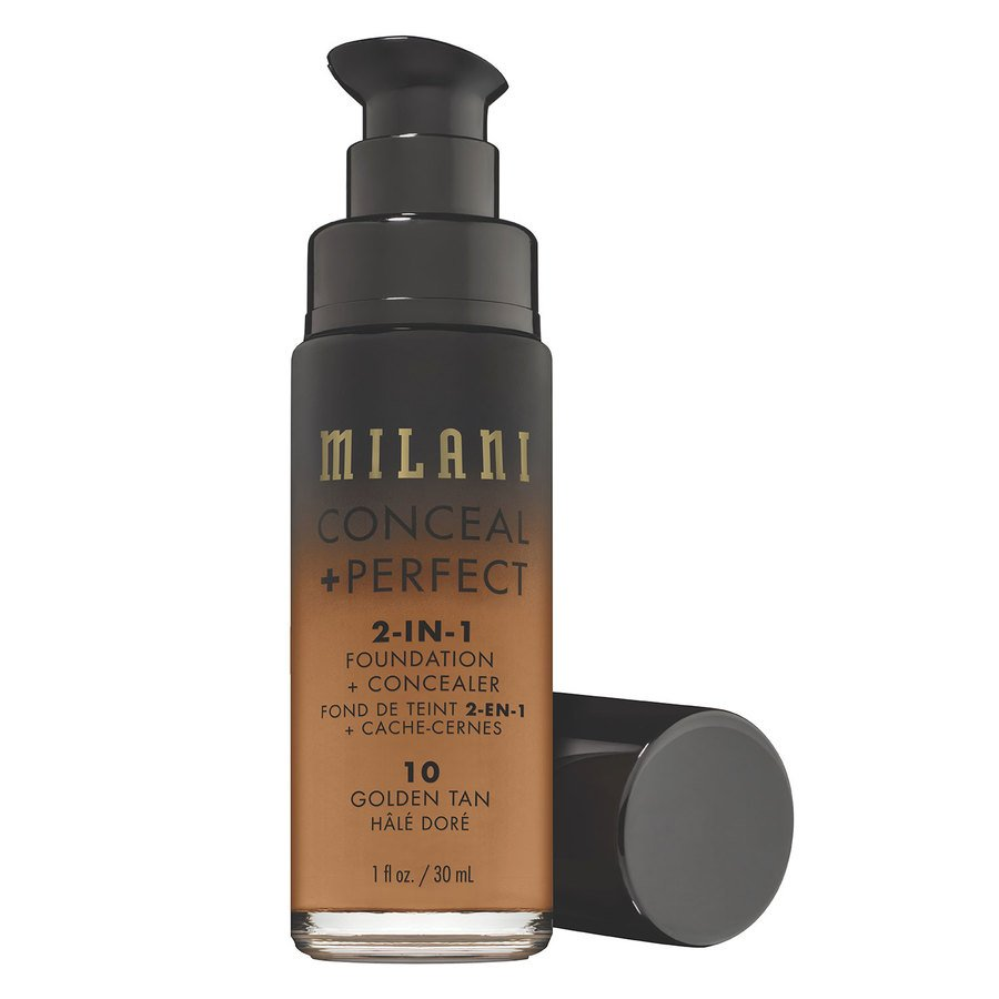 Milani Conceal & Perfect 2-In-1 Foundation + Concealer, Golden Tan (30ml)