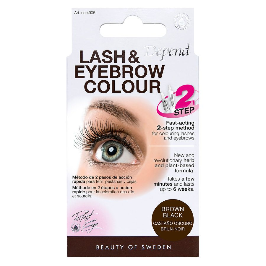 Depend Lash And Eyebrow Colour, Brown Black
