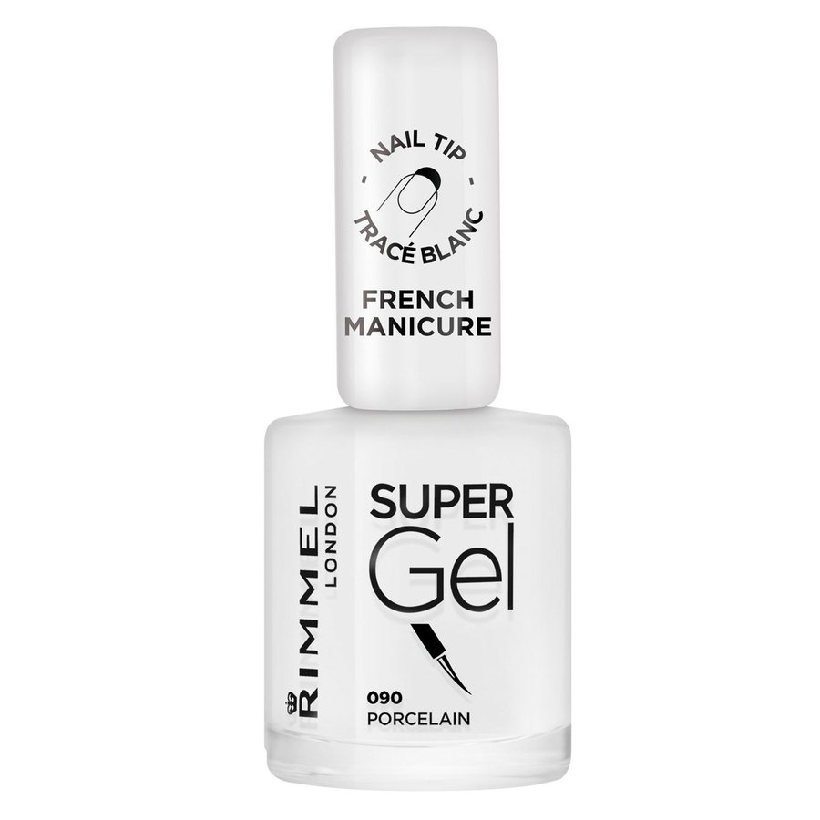 Rimmel London Super Gel Nail Polish (12 ml), #090 Porcelain