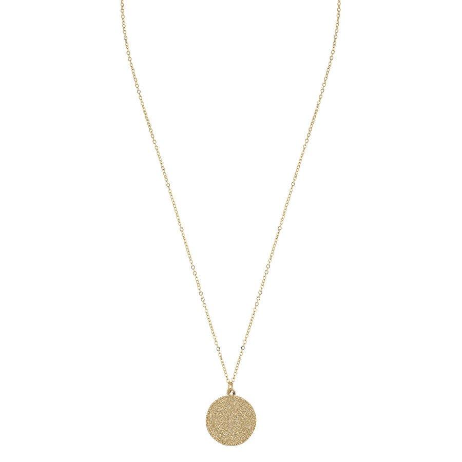SNÖ of Sweden Penny Coin Pendant Neck Plain Gold (42 cm)