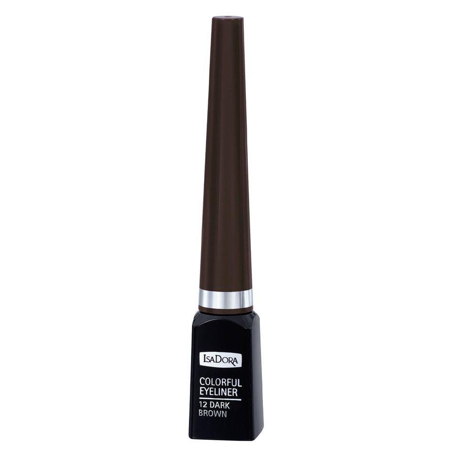 IsaDora Colorful Eyeliner (3,7ml), #12 Dark Brown