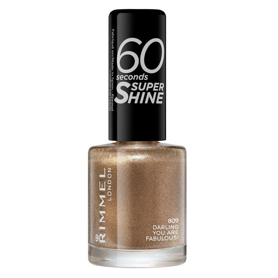 Rimmel London 60 Seconds Super Shine Nail Polish (8ml), #809 Darling