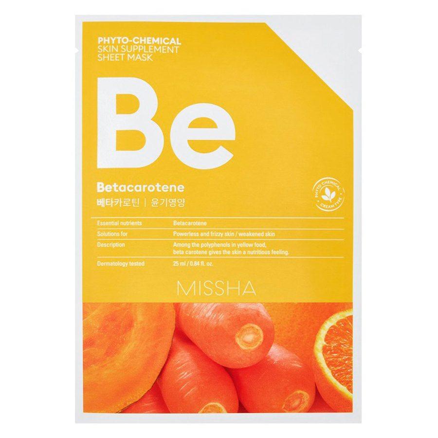 Missha Phytochemical Skin Supplement Sheet Mask Betacarotene (25 ml)