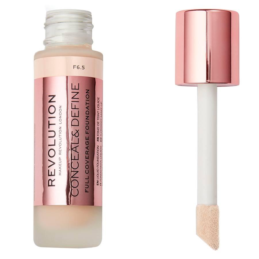 Makeup Revolution Conceal & Define Foundation, F6,5 (23ml)