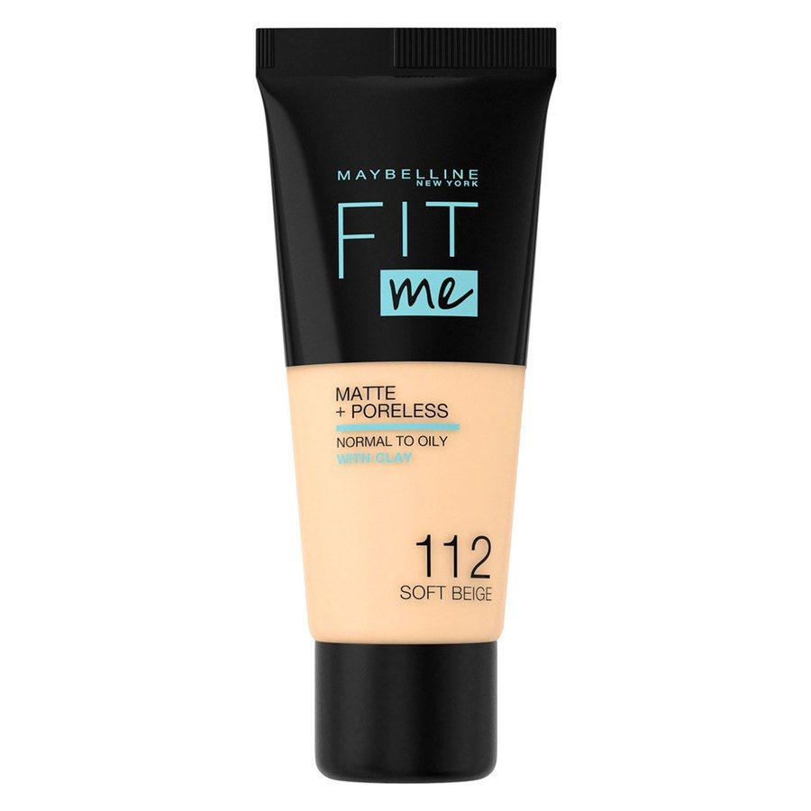 Maybelline Fit Me! Matte + Poreless Foundation (30ml), #112 Soft Beige