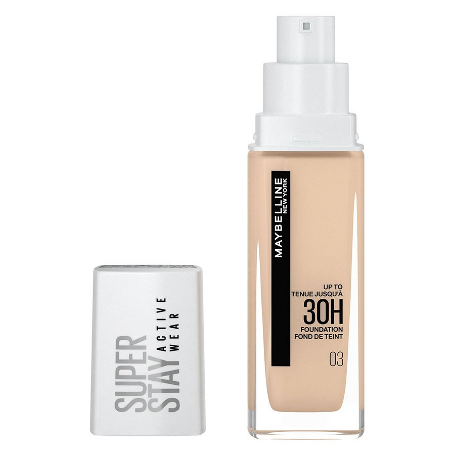 Maybelline 30H Superstay Active Wear Foundation 30ml, True Ivory
