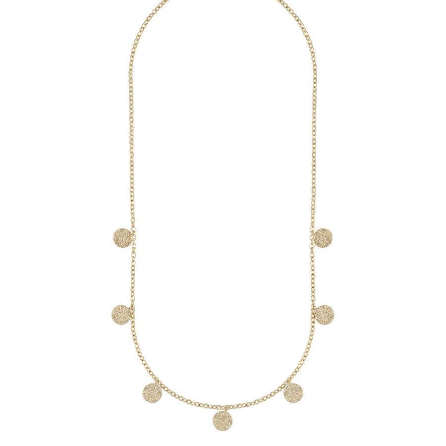 Snö Of Sweden Day Charm Necklace Plain Gold, 42cm