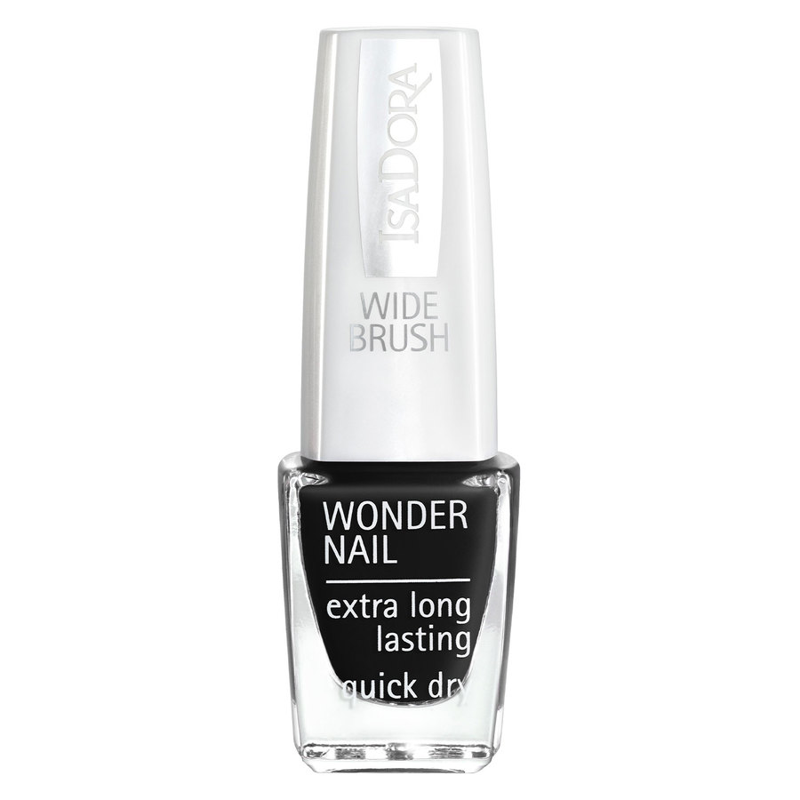 IsaDora Wonder Nail Wide Brush (6ml), #191 Black Lacquer