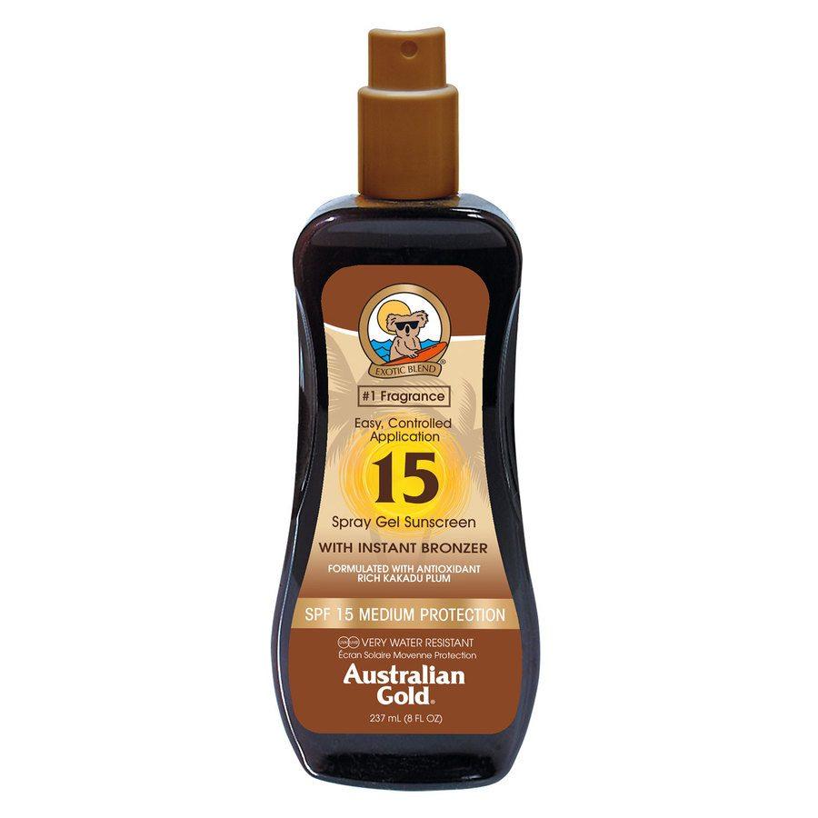 Australian Gold Spray Gel SPF 15 With Instant Bronzer (237ml)