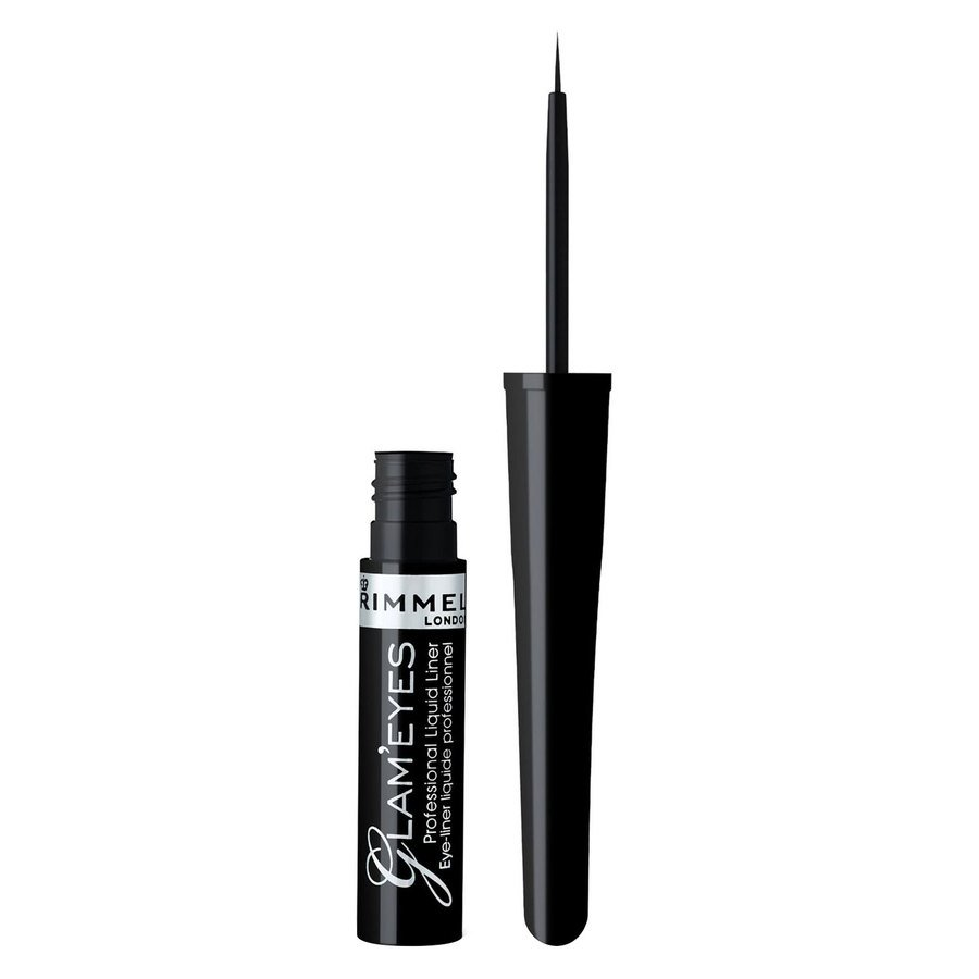 Rimmel London Glam'eyes Professional Liquid Liner (3,5ml), # 001 Black Glamor