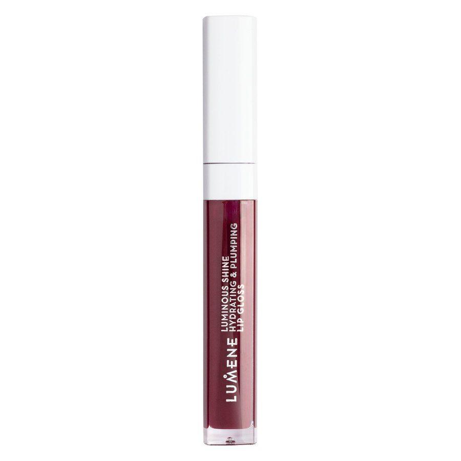 Lumene Luminous Shine Hydrating & Plumping Lip Gloss, 10 Fresh Plum 5ml