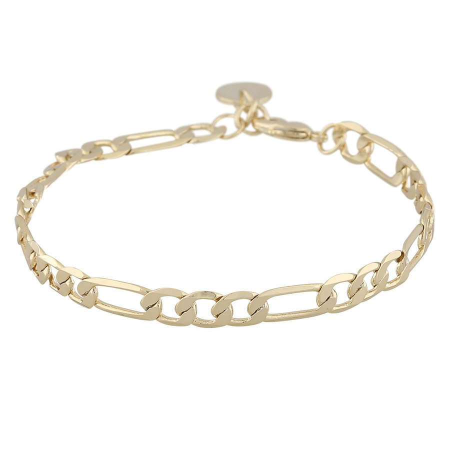 Snö Of Sweden Anchor Chain Bracelet Plain Gold