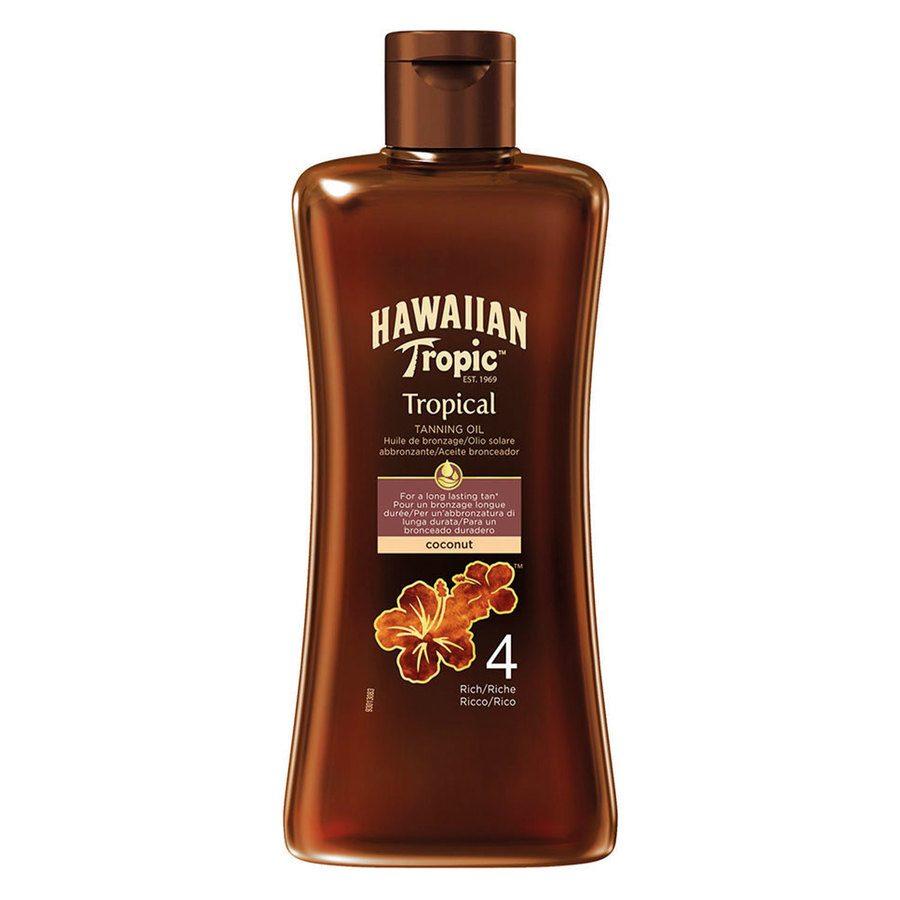 Hawaiian Tropic Tan Oil, Rich SPF4 (200ml)
