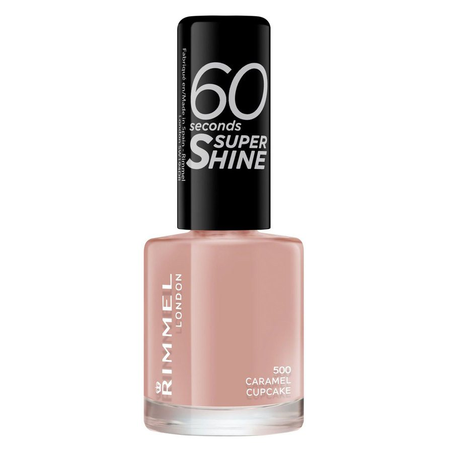 Rimmel London 60 Seconds Super Shine Nail Polish (8 ml), # 500 Caramel Cupcake