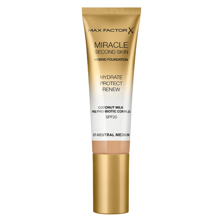 Max Factor Miracle Second Skin Foundation - #007 Neutral Medium (33 ml)