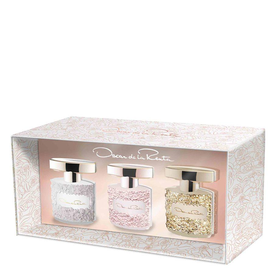Oscar de la Renta Gift Set Mini Bella Blanca / Rosa / Essence 3 x 5 ml