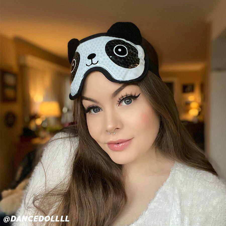 Shelas Hot / Cold Gel Beads Eye Mask Panda