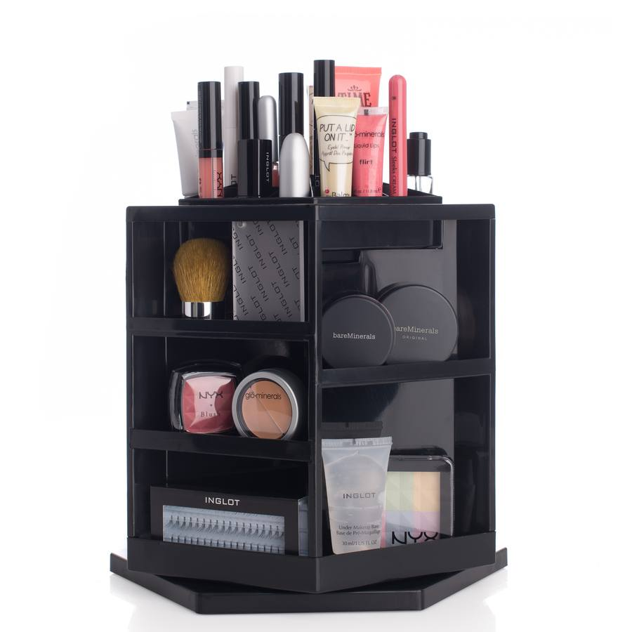 Shelas Versatile Rotating Cosmetic Organizer, czarny