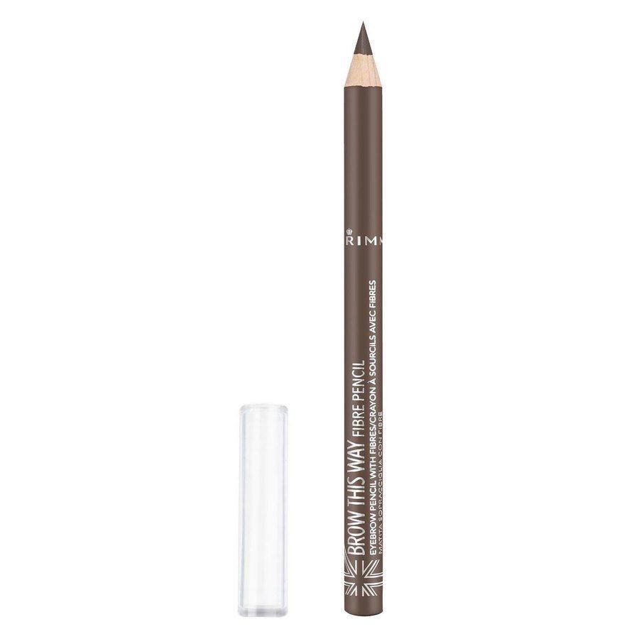 Rimmel London Brow This Way Fiber Pencil (1 g), # 002 Medium Brown