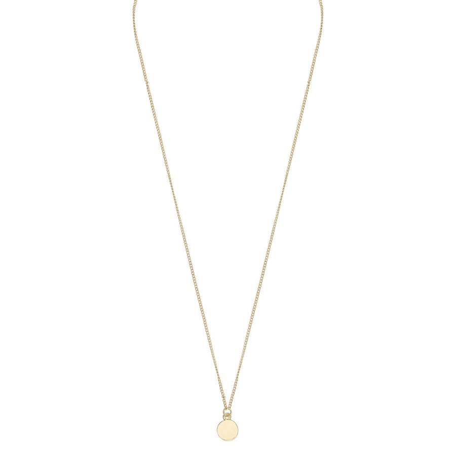 Snö Of Sweden Bridget Pendant Neck (42 cm) ─ Plain Gold