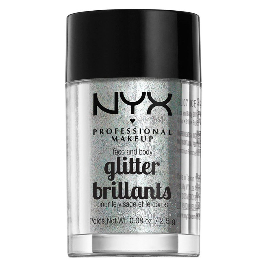 NYX Professional Makeup Face & Body Glitter, Ice GLI07