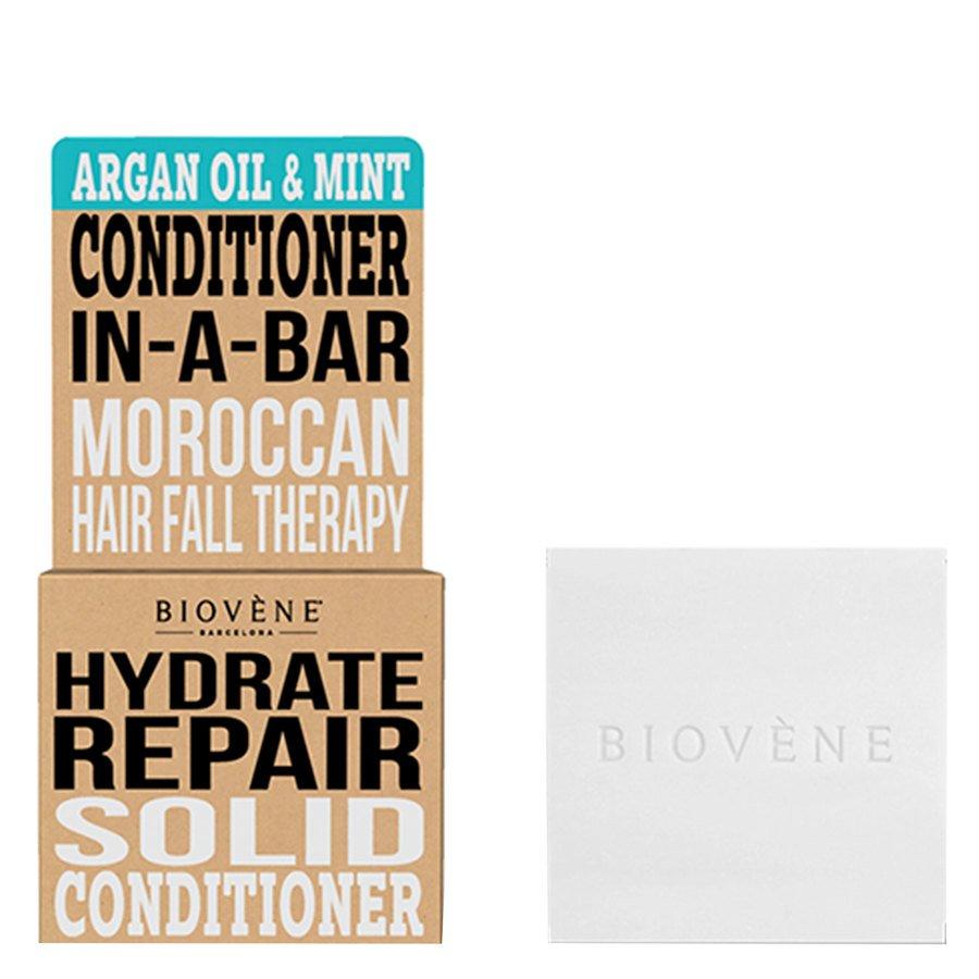 Biovène Hair Care Conditioner Bar Hydrate Repair Argan Oil & Mint 40g