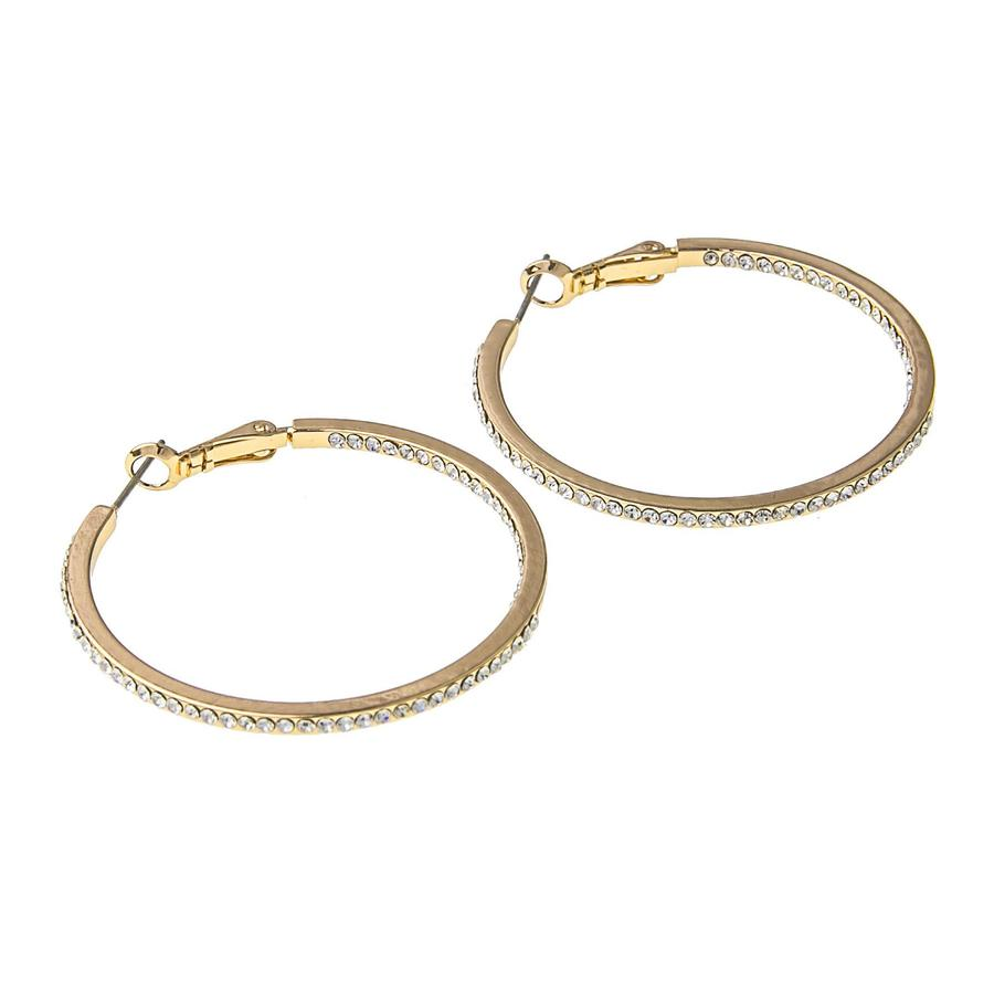 Snö Of Sweden Story Ring Earring, Gold/Clear