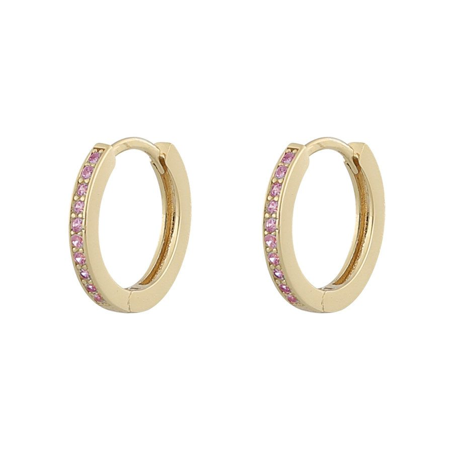 Snö Of Sweden Camille Ring Earring Gold / Pink