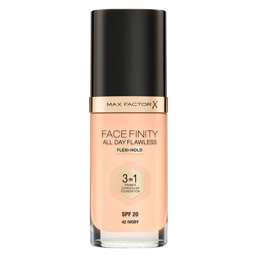 Max Factor Facefinity All Day Flawless 3-In-1 Foundation (30 ml), #42 Ivory