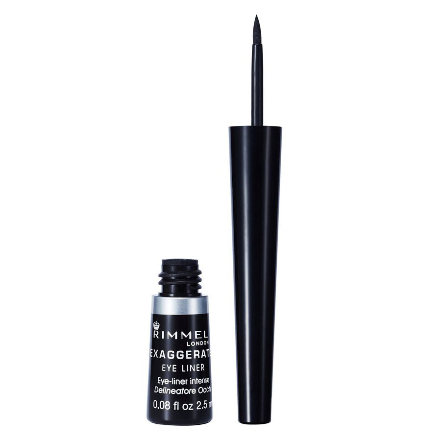 Rimmel London Exaggerate Liquid Eyeliner (2,5 ml), #001 Black