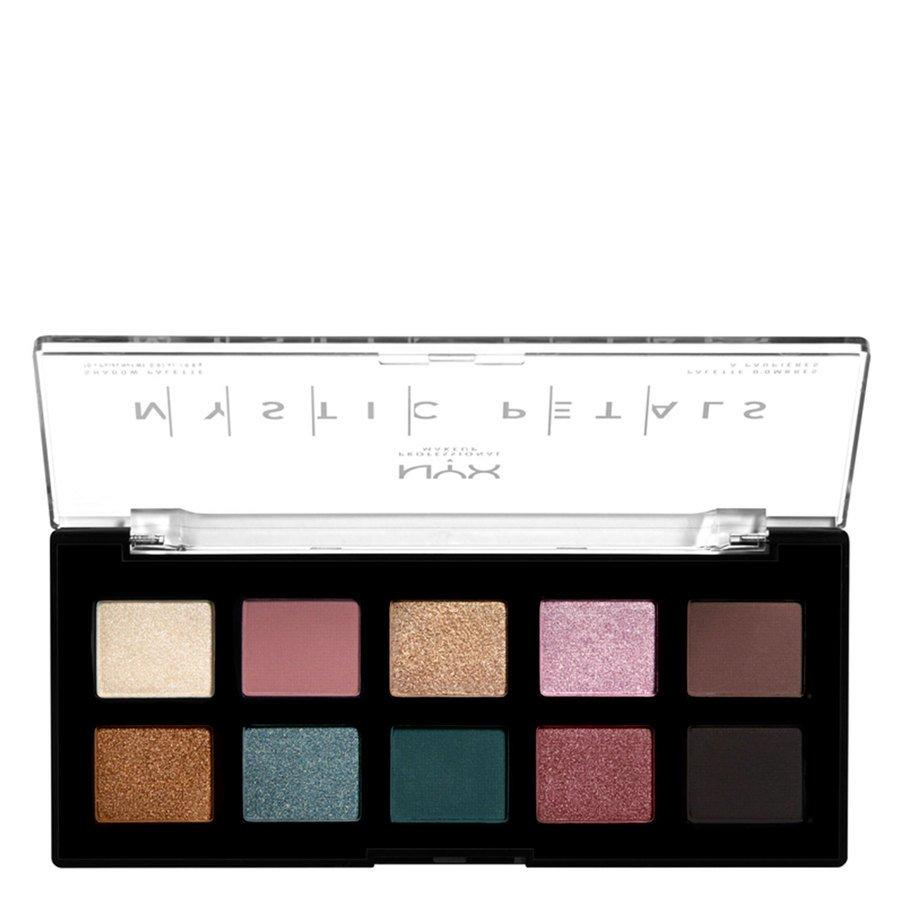 NYX Professional Makeup Mystic Petals Shadow Palette (10x0,8g), Dark Mystic