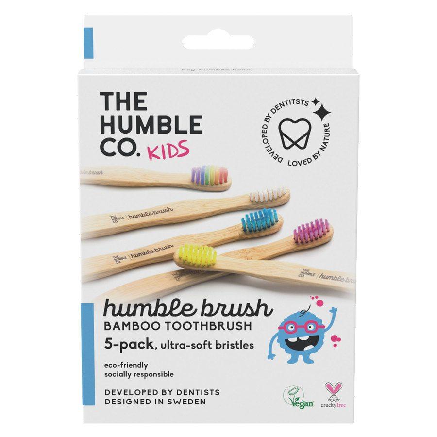 The Humble Co. Flat Curved Kids Ultra Soft Mix 5szt