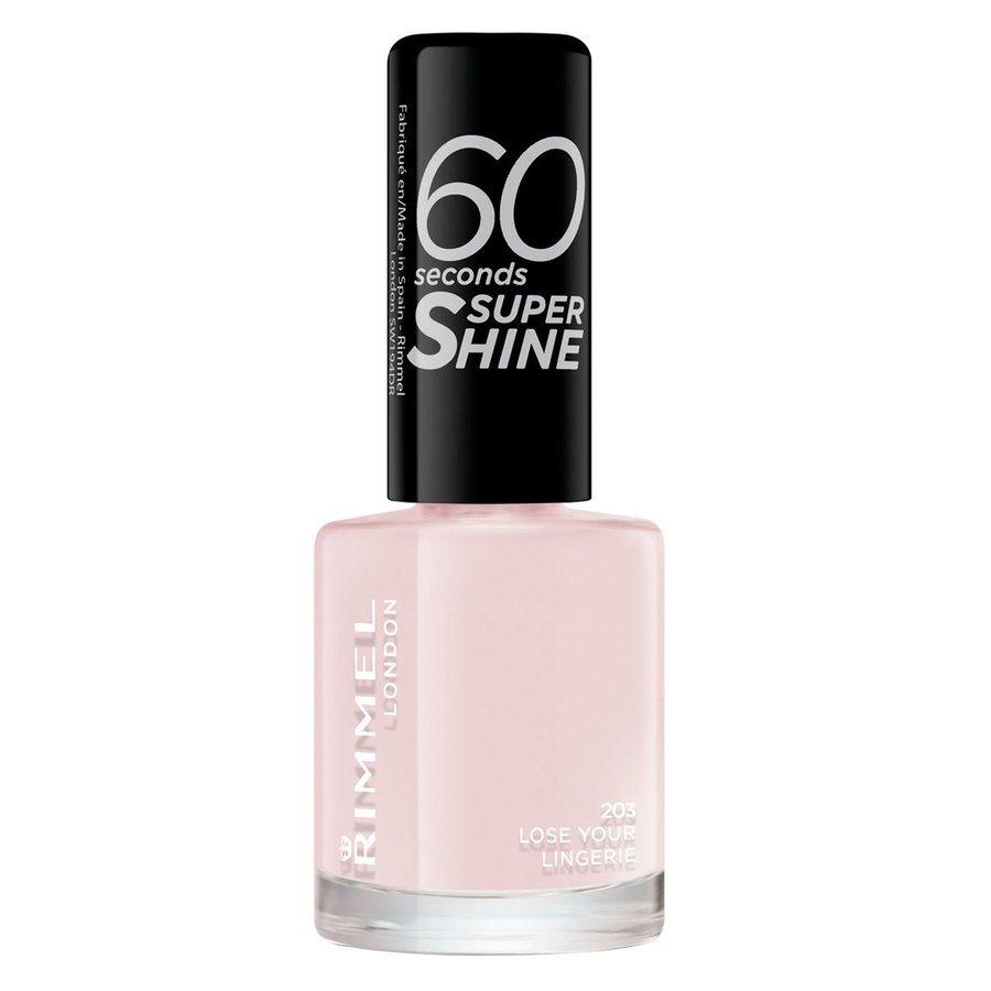RimmelLondon 60 Seconds Super Shine Nail Polish (8ml), #203 Lose Your Lingerie
